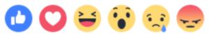 Like Love Haha Wow Sad Angry emoji